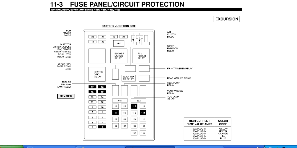 2001 F350 Fuse Box. 2001. Free Wiring Diagrams throughout F350 Fuse Box Diagram