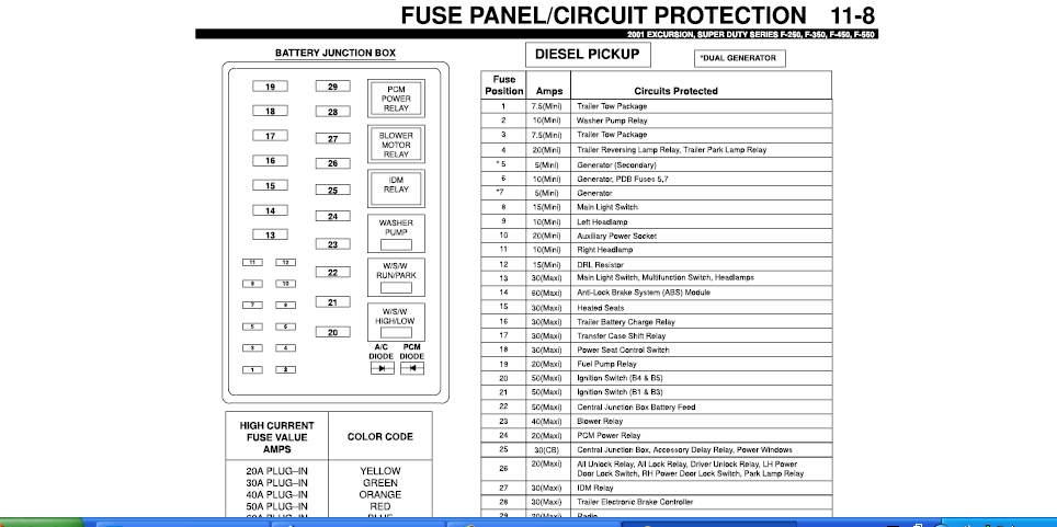 2000 ford excursion fuse box   28 wiring diagram images