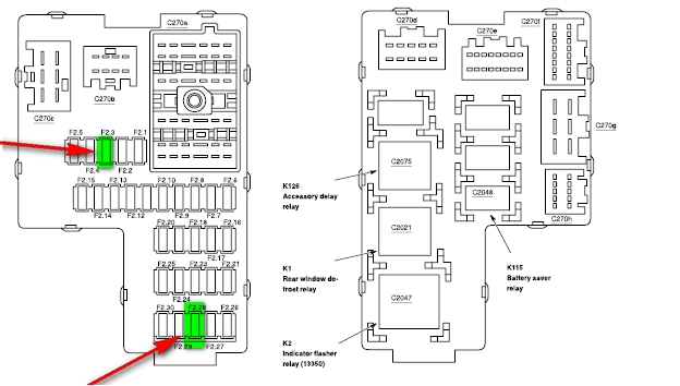 2002 mercury mountaineer fuse box   33 wiring diagram