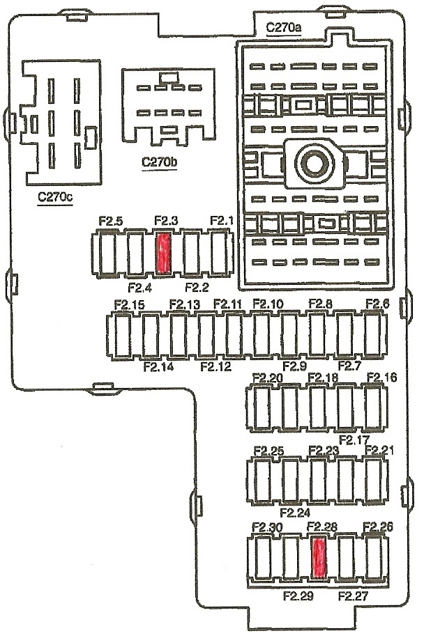 2003 Ford Explorer Fuse Box - Vehiclepad | 2003 Ford Explorer intended for 2003 Ford Explorer Fuse Box Diagram