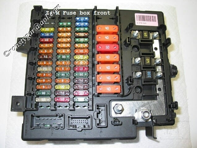 2005 Bmw Z4 Fuse Box Diagram