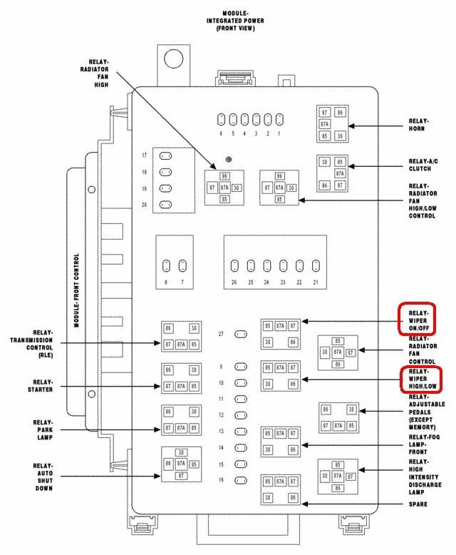 2005 Chrysler: The Windshield Wiper Relay Is..300. regarding 2005 Chrysler 300 Fuse Box Diagram