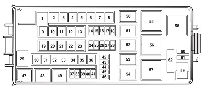 2006 Ford Five Hundred Fuse Box Diagram - Vehiclepad | 2005 Ford within 2005 Ford 500 Fuse Box Diagram