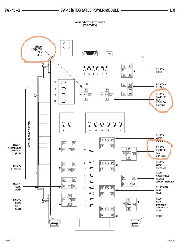 05 chrysler 300 fuse box diagram
