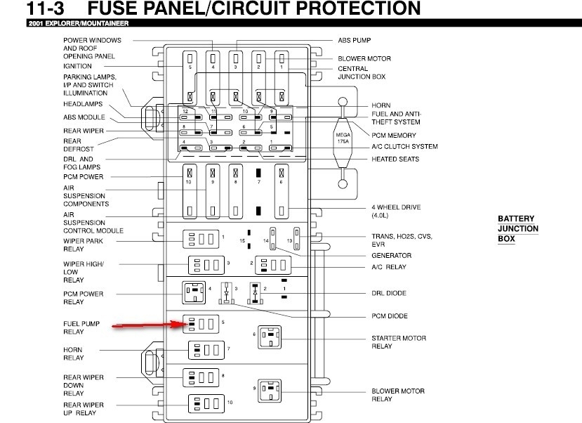 2007 Mercury Mountaineer Fuse Box Diagram - Vehiclepad | 2007 regarding 2003 Mercury Mountaineer Fuse Box