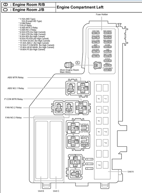 2007 Toyota Prius Fuse Box Diagram - Vehiclepad | 2004 Toyota with 2007 Chrysler Sebring Fuse Box