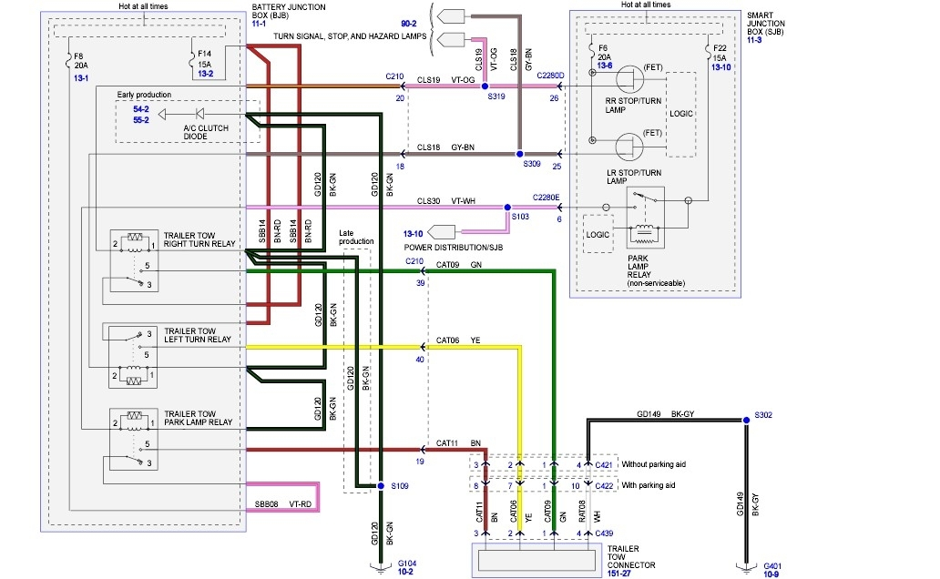 Wiring Diagram For Parking Lights : Ford escape parking lights quit working fuse panel