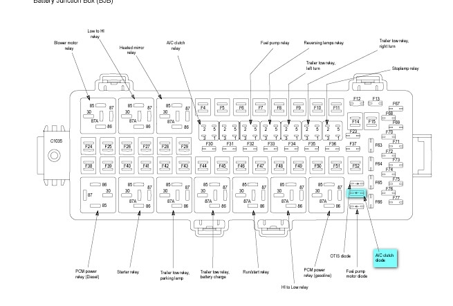 2008 Ford F-250: A Wiring Diagram For The Air Conditioning Circuit within 2008 Ford F250 Fuse Box Diagram