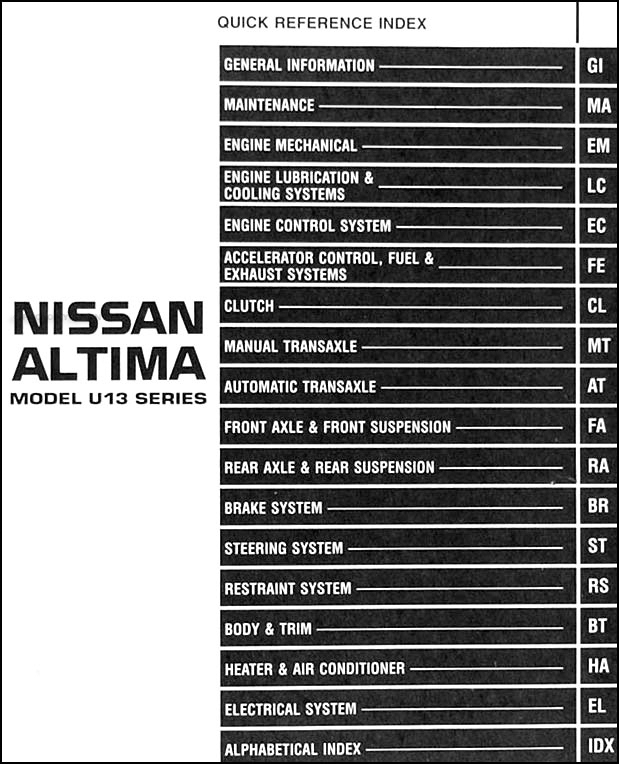 2008 Nissan Altima Fuse Box Location : Altima fuse box diagram wiring images