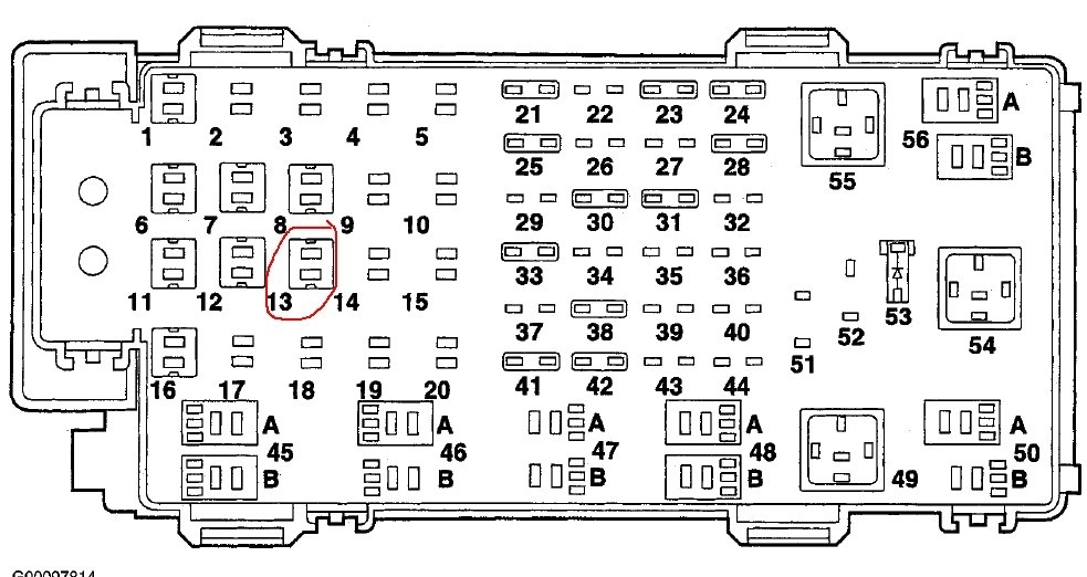 Ford explorer fuse box diagram and wiring
