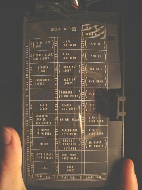 True likewise 91 Nissan 240sx Wiring Diagram additionally 571qz Toyota Corolla Fuel Pump Relay Located as well P 0900c15280079359 besides Honda Accord. on 95 honda fuse box diagram
