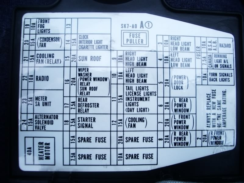 91 Integra Fuse Box - Honda-Tech throughout 1990 Acura Integra Fuse Box Diagram