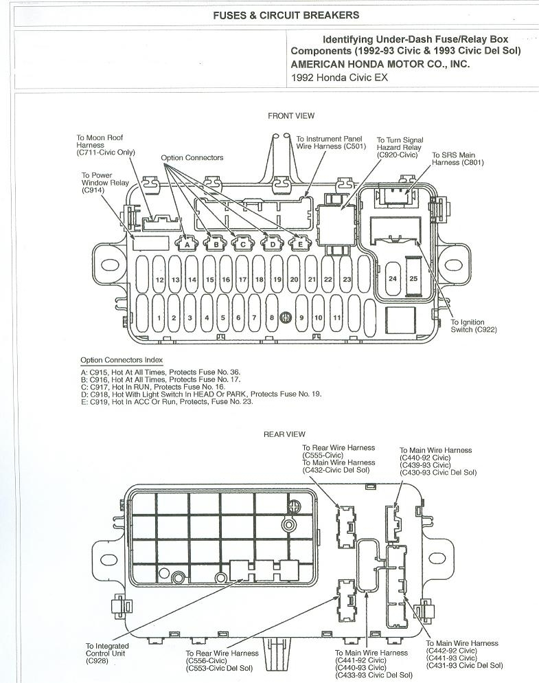 97 Honda Civic Ac Wiring Diagram - Wirdig with regard to 2001 Honda Civic Fuse Box