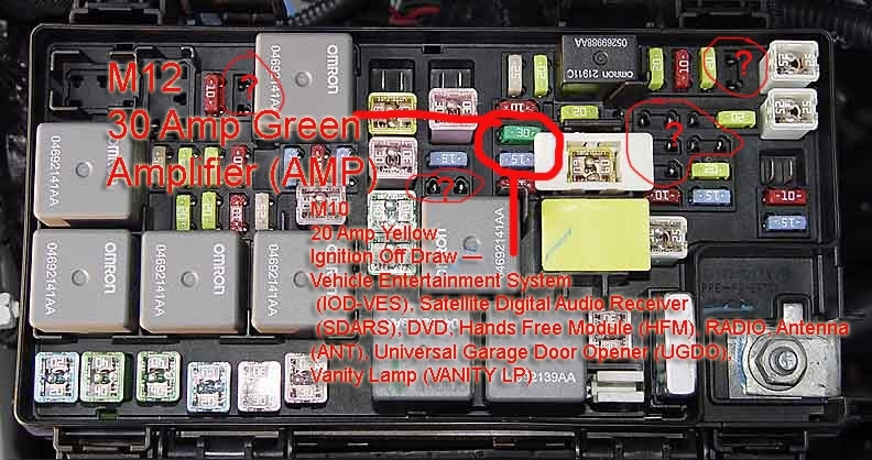 Amp Remote Cable To Fuse Box???? for Jeep Wrangler Fuse Box