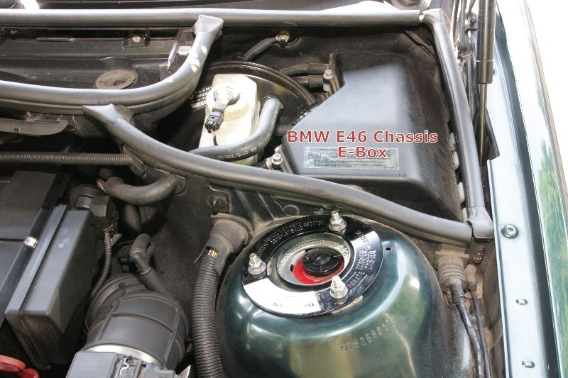 Bmw Engine Electronics Fuse Pack – In Underhood E-Box, E46, E39 inside E46 Fuse Box Location