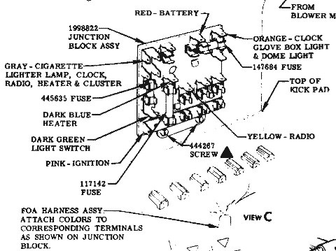1956 corvette fuse box diagram