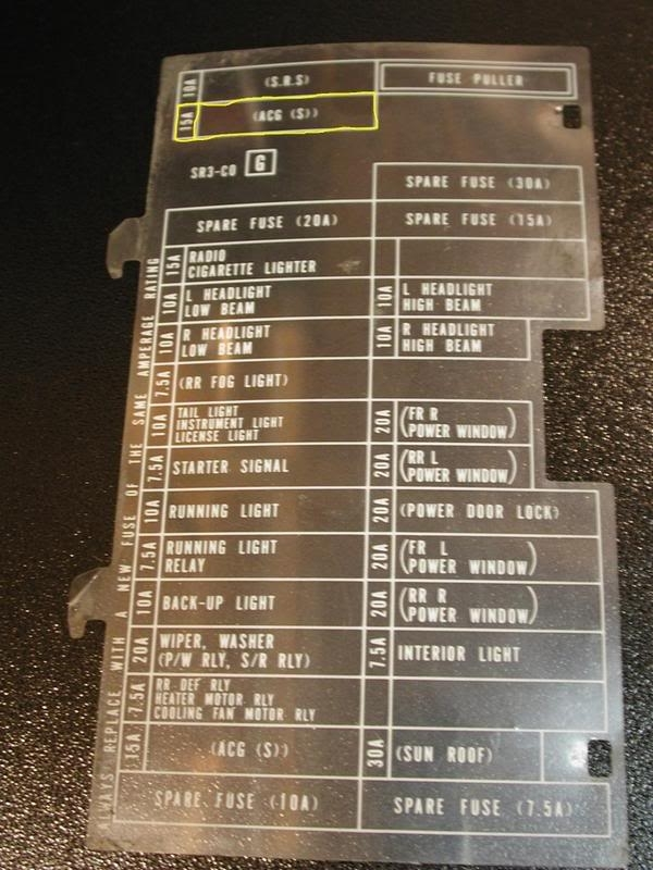 Crx Swap Turning Over But Not Starting - Honda-Tech with regard to 1990 Honda Civic Fuse Box Diagram