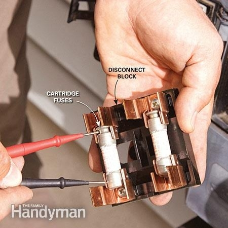 diy air conditioner repair the family handyman for central air conditioner fuse box diy air conditioner repair the family handyman for central air central air conditioner fuse box at readyjetset.co