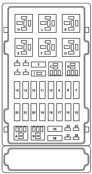 2006 ford e150 fuse box diagram