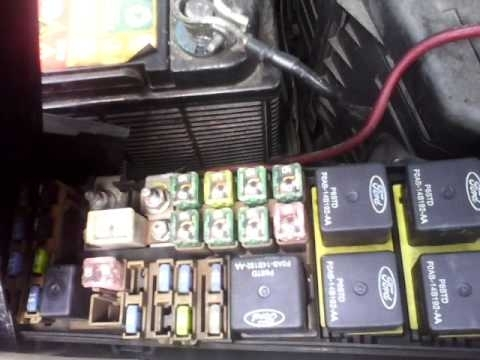 Ford Escape Fuse Box - Youtube throughout Ford Escape Fuse Box