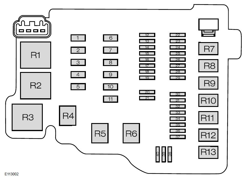 Ford Fiesta Mk6 – Sixth Generation (From 2008) – Fuse Box Diagram regarding Ford Fiesta Fuse Box Diagram Mk6