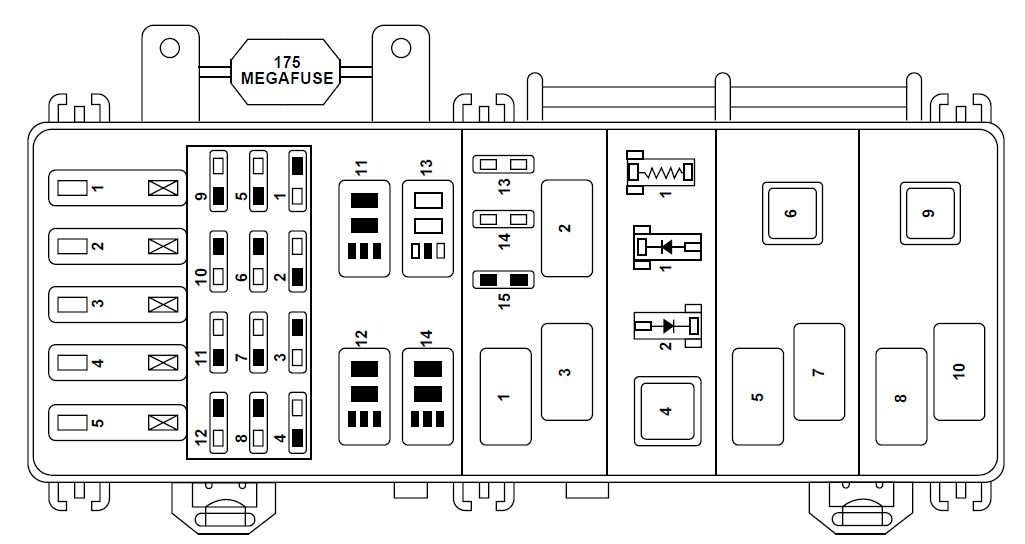 Ford Ranger Fuse Box Diagram. Ford. Automotive Wiring Diagrams throughout 89 Ford Ranger Fuse Box Diagram