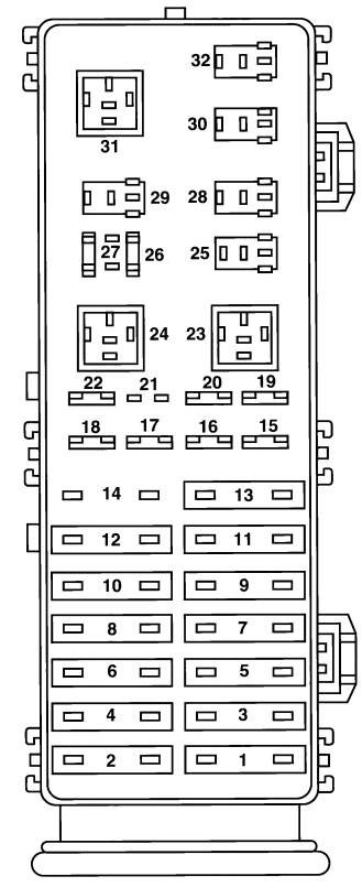 1997 ford taurus fuse box diagram
