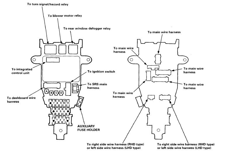 Fuse Box Diagram 94-97 Accord - Honda-Tech within 1996 Honda Accord Fuse Box