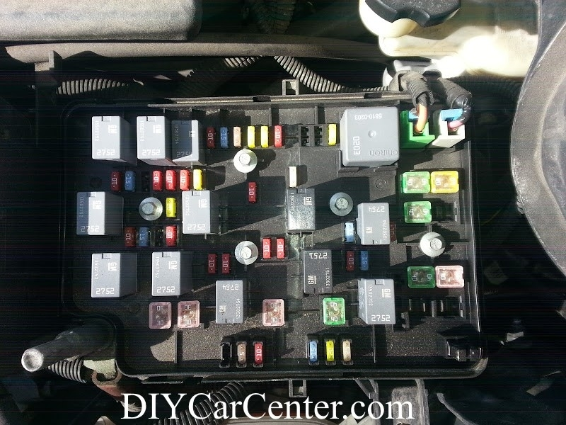 Fuse Box Location, Designation List For Chevrolet Cobalt, Pontiac intended for 2008 Chevy Cobalt Fuse Box