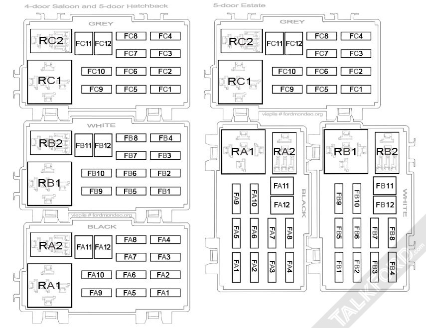 Fuse & Relay Information - Mk4 - Mondeo Mk4 (2007-2014) - Talkford with regard to Ford Transit 2006 Fuse Box Layout