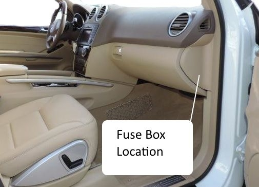 Fuses W164 M-Class 2006-2011Benz Box Location Fuse Chart within Car Fuse Box Location