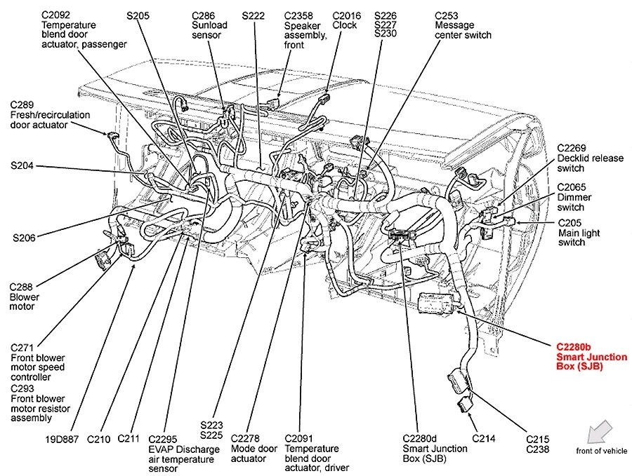 Ford fusion fuse box and wiring diagram
