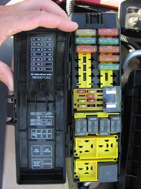 98 Jeep Fuse Box 98 Automotive Wiring Diagrams with 1998 Jeep – Jeep Wrangler Fuse Wiring