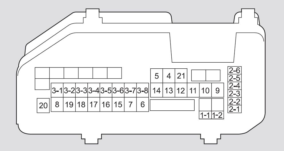 Honda Accord (2008 – 2009) – Fuse Box Diagram | Auto Genius intended for 2009 Honda Accord Fuse Box Diagram