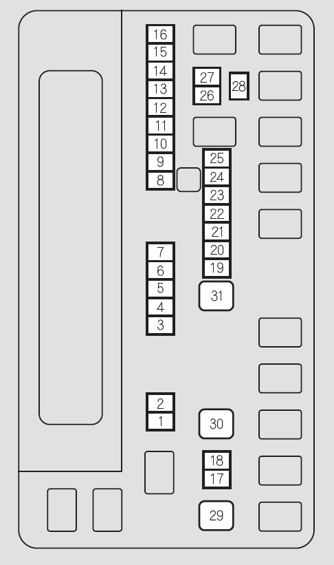 Honda Odyssey (2011) – Fuse Box Diagram | Auto Genius throughout Honda Odyssey Fuse Box