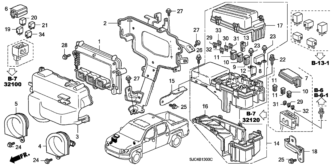 2006 Honda Ridgeline Fuse Box Diagram