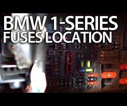 How To Access Fuses In Bmw 1-Series (E81 E82 E87 E88) regarding Bmw 1 Series Fuse Box Location