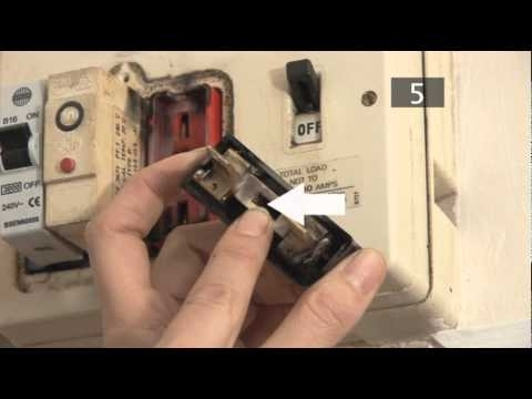 How To Change A Fuse In A Traditional Fuse Box - Youtube inside How To Reset Old Fuse Box