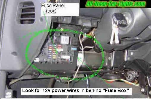 How To Install Interior Car Lights - Neon And Led. throughout How To Connect Power Wire To Fuse Box