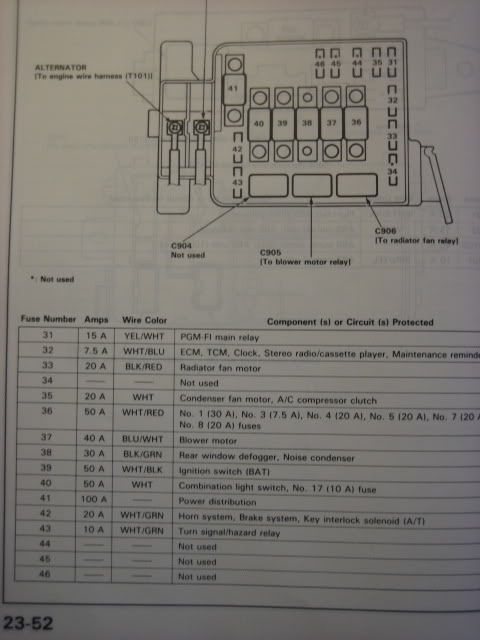 Integra Fuse Diagram - Honda-Tech inside 1995 Acura Integra Fuse Box Diagram