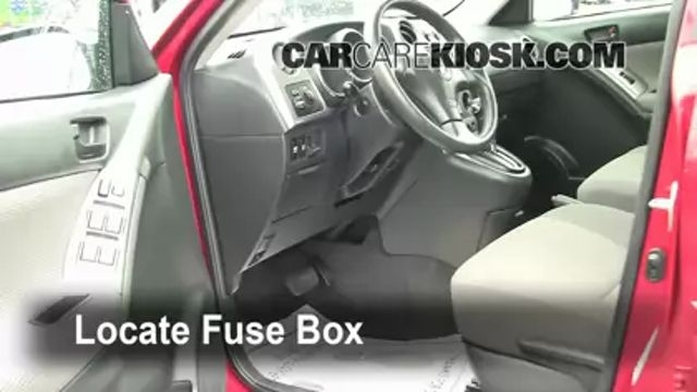 Interior Fuse Box Location: 2003-2008 Toyota Matrix 2006 Toyota for Pontiac Vibe Fuse Box Location