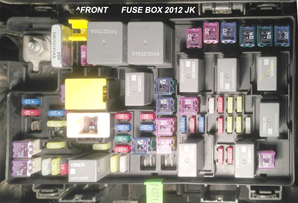 Jk Parts Labeled - Jeep Wrangler Forum in 2008 Jeep Wrangler Fuse Box