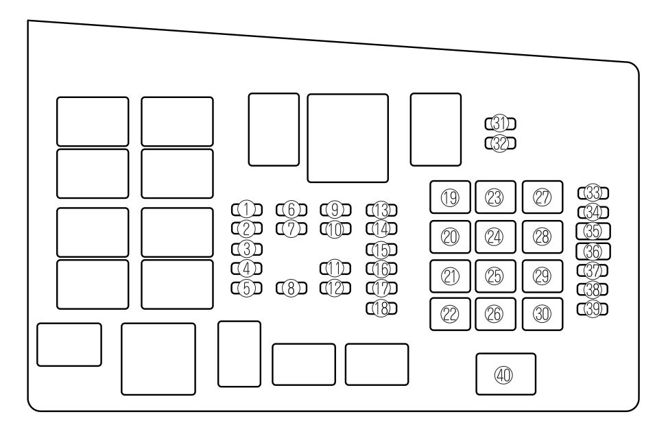 Mazda 6 (2006 – 2008) – Fuse Box Diagram | Auto Genius for Mazda 6 Fuse Box