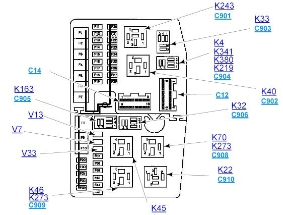 Mk3 Mondeo Fuel Pump Relay Location? - Passionford inside Ford Mondeo 2004 Fuse Box Diagram