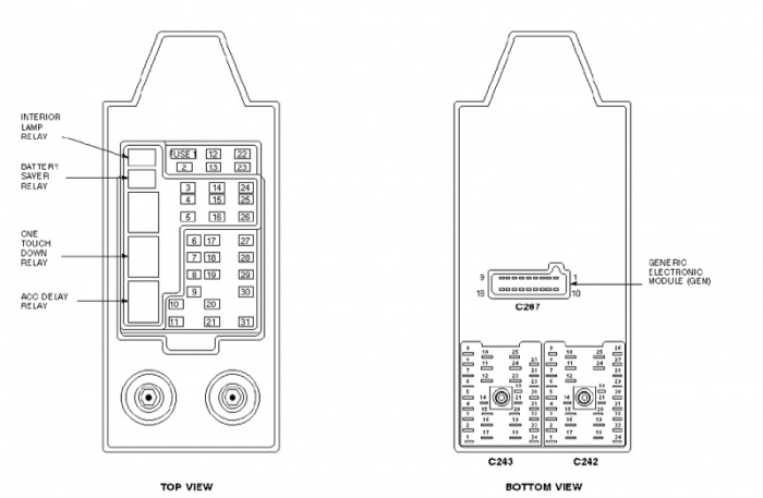 Need A Fuse Box Diagram/legend - Ford F150 Forum - Community Of for 1987 Ford F150 Fuse Box Diagram