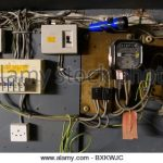 Old Electrical Installation With Fuse Box Stock Photo, Royalty throughout Fuse Box Electrical Supplies