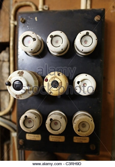 Old Fuses Fuse Box Stock Photos & Old Fuses Fuse Box Stock Images in How To Reset Old Fuse Box