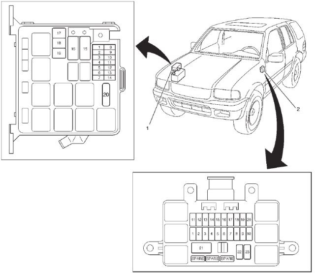 isuzu rodeo fuse box diagram