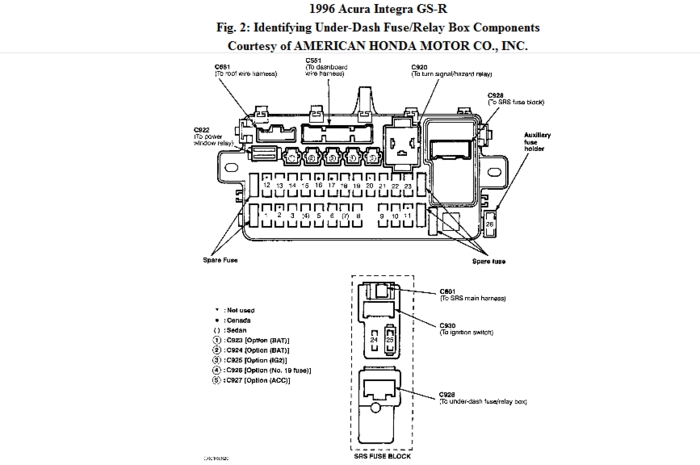 Radio Wiring Diagram Integra. Radio. Wiring Diagram Instructions for 1994 Integra Fuse Box Diagram