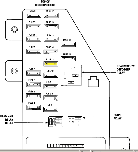 2007 chrysler sebring fuse box diagram